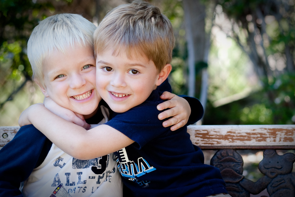 "At my very first all-boy playdate, I'll admit that I did not miss the ""girl drama.""  Boys are so EASY.  Take a look at Zach and his best bud Isaac.  Two happy boys."