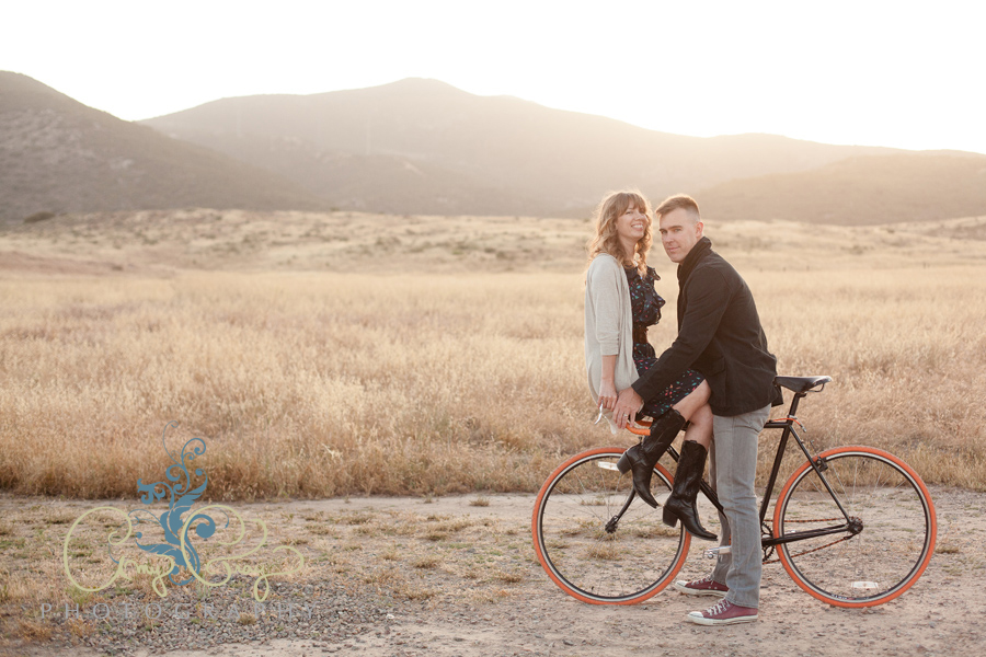 Bicycle family photo session