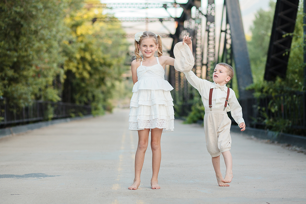 Sibling Rivalry | Cousins | Steele Canyon Bridge Photography | Rancho San Diego Photographer