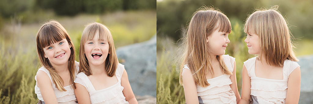 Fraternal Twin Girls | Steele Canyon Bridge Photography | Rancho San Diego Photographer