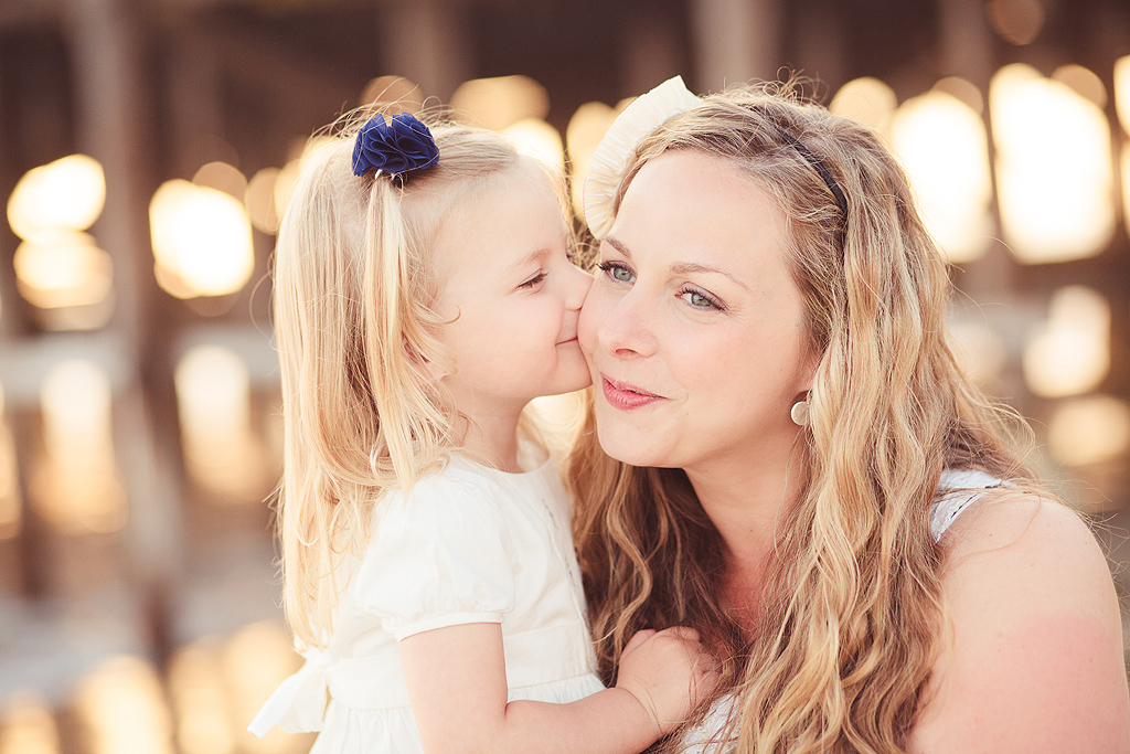 Mother's Day Kisses | San Diego Beach Photography