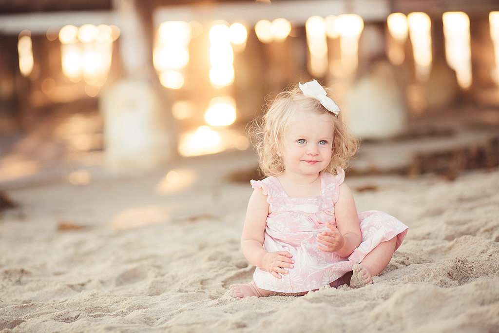 Little Girl in the Sand | Pacific Beach Photographer