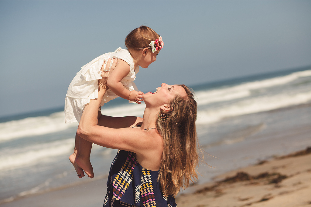 Mother and Daughter | San Diego Beach Photography