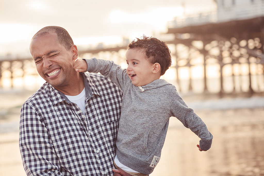 Son Punching Father | San Diego Beach Photographer