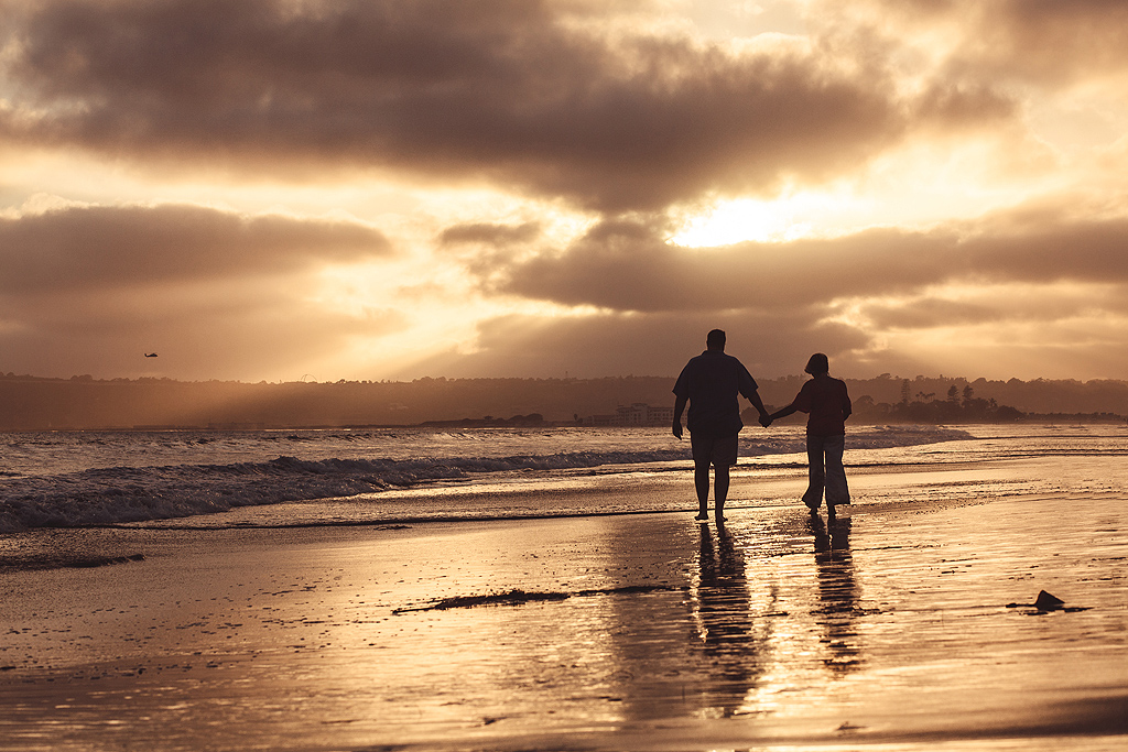 Walking on the Beach | Coronado Photographer