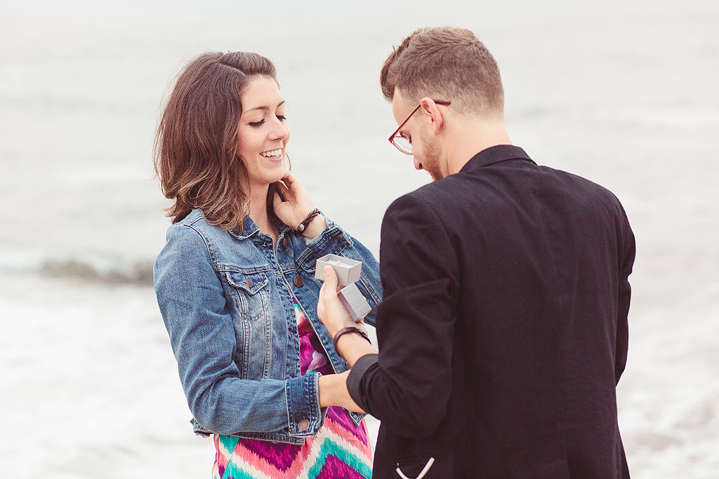 Popping the Question in La Jolla