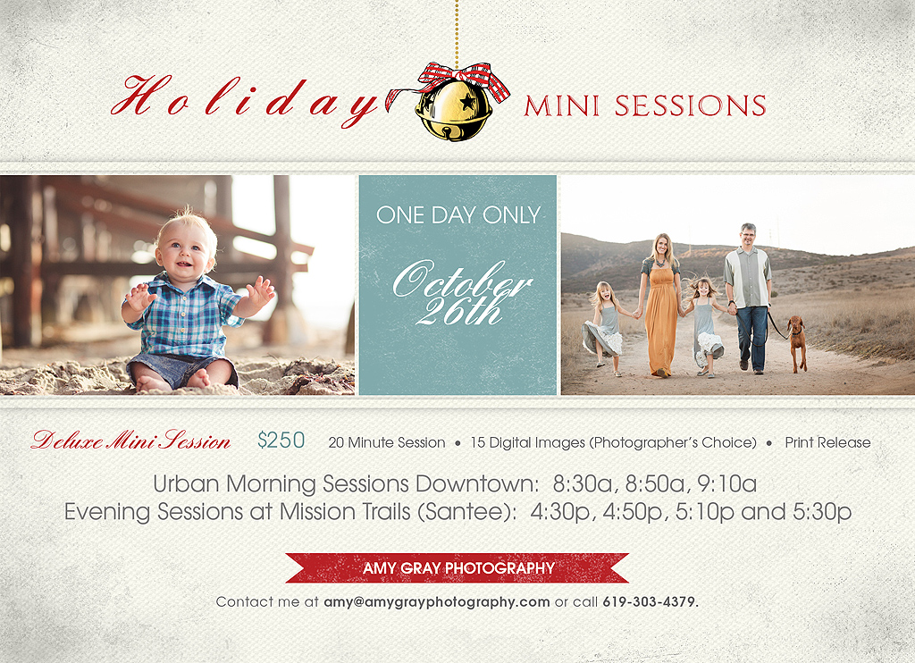 San Diego Beach Photographer | Mini Sessions 2013