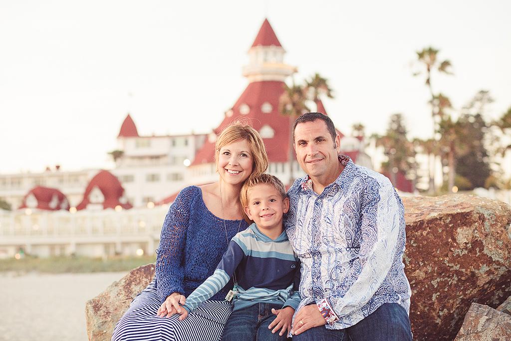 Family Photo Session at the Hotel del Coronado