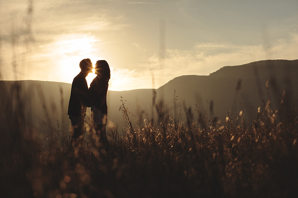 Field Silhouette | San Diego Engagement Photographer