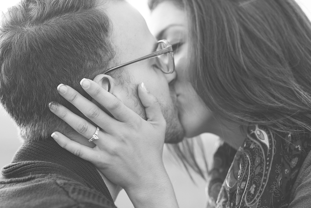 Kissing | San Diego Engagement Photographer