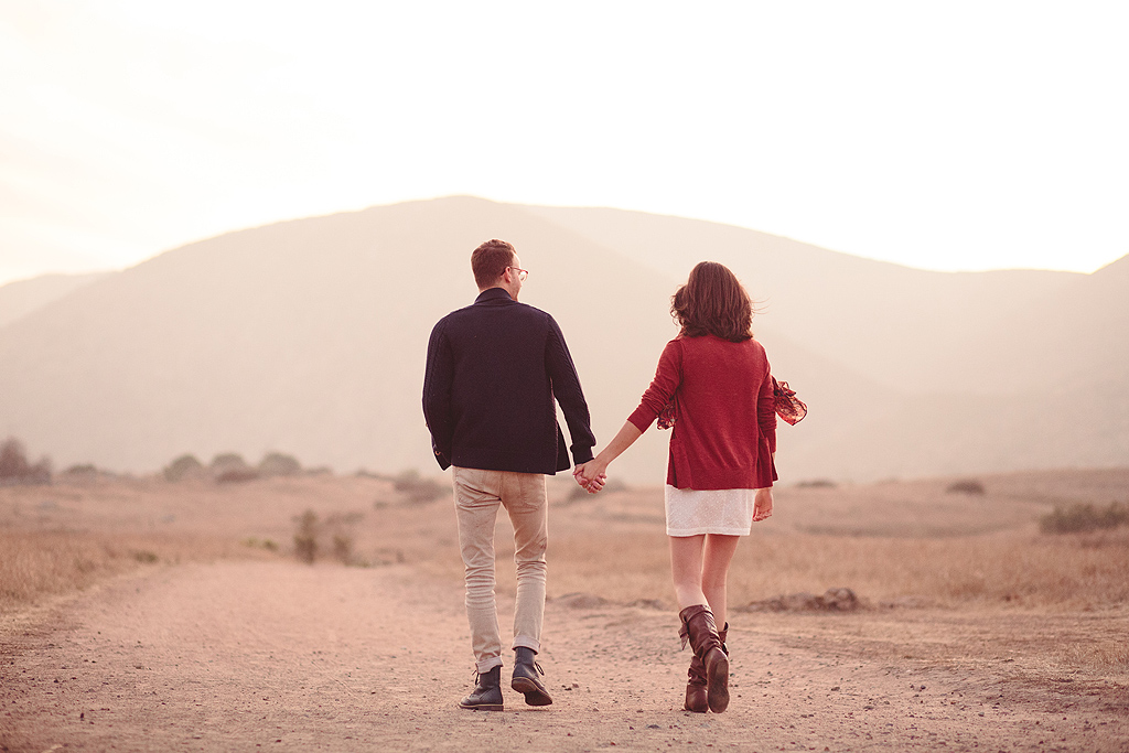 Walking Down a Path | San Diego Engagement Photographer
