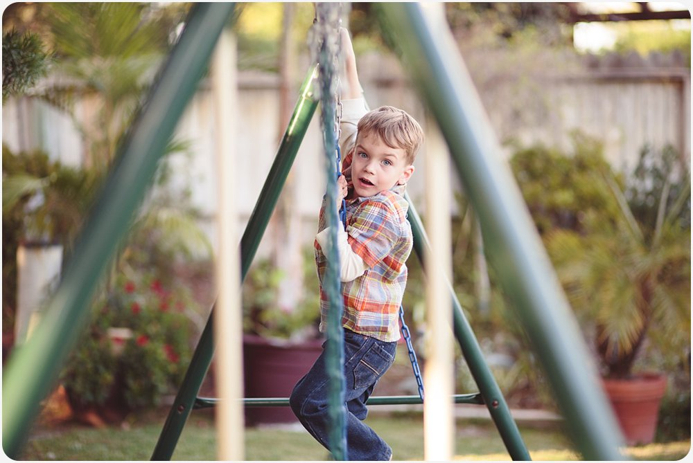 Thanksgiving Swingset | San Diego Lifestyle Photography