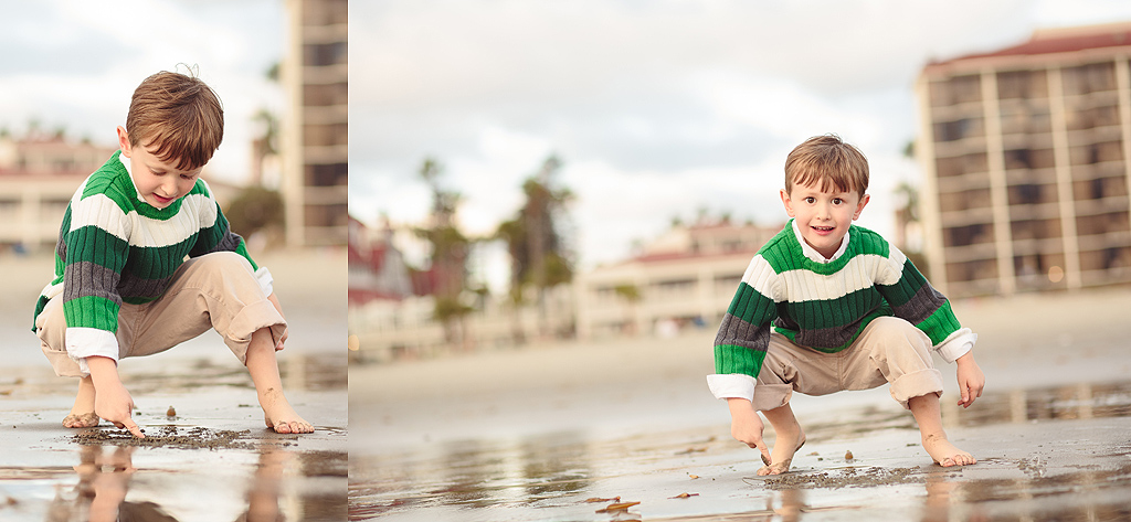 Little Boy on the Beach | San Diego Coronado Beach Photographer