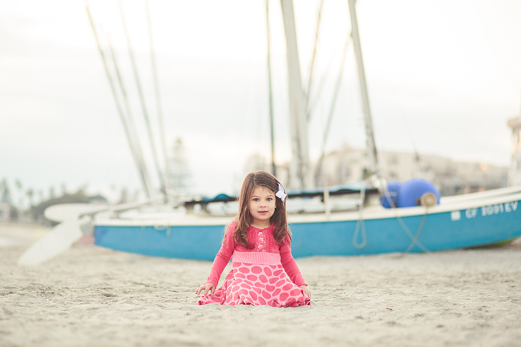 Girl with Boat | San Diego Beach Photographer