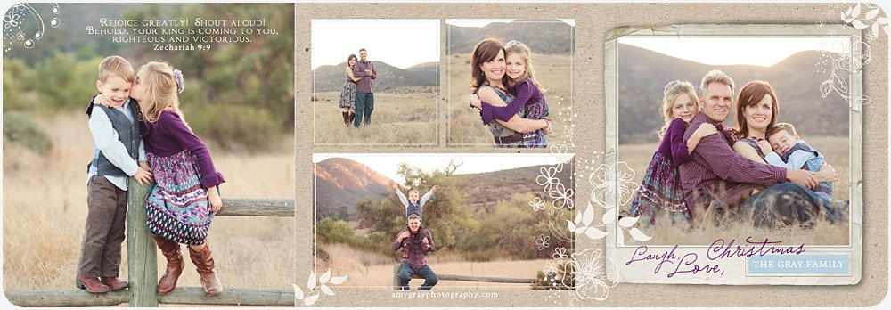 Amy Gray Photography Christmas Card