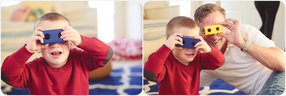 Blocks Binoculars | San Diego Child Lifestyle Photography