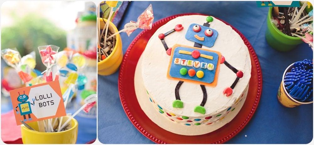 Astonishing Stevens Robot Birthday Party San Diego Photographer Amy Gray Funny Birthday Cards Online Alyptdamsfinfo