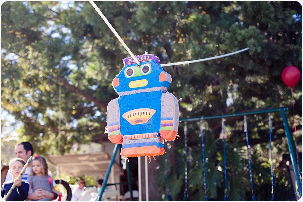 Robot Pinata | San Diego Birthday Party Photography