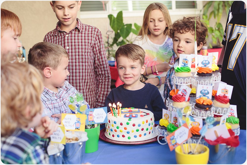 Robot Birthday Party   San Diego Birthday Party Photography