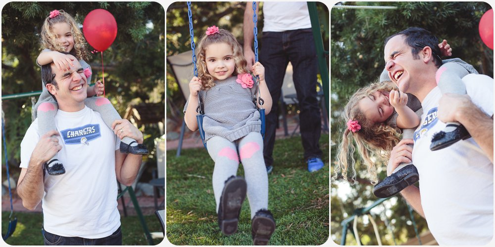 Kids on Swingset | San Diego Birthday Party Photography