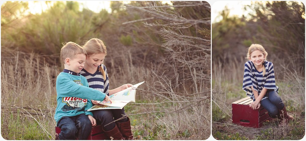 Reading in a Field | San Diego Photography