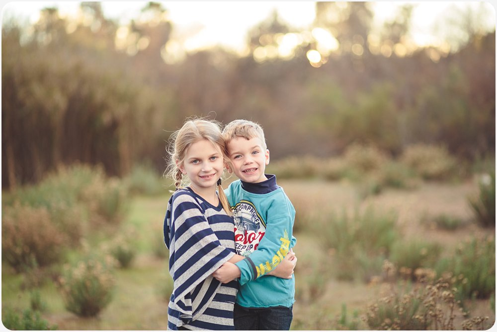 Siblings in Field | San Diego Child Photographer