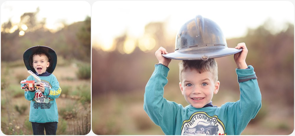 Great-Grandson of a Firefighter | San Diego Child Photography