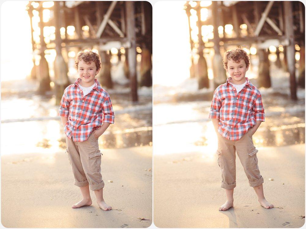 Curly Haired Boy   San Diego Beach Photography