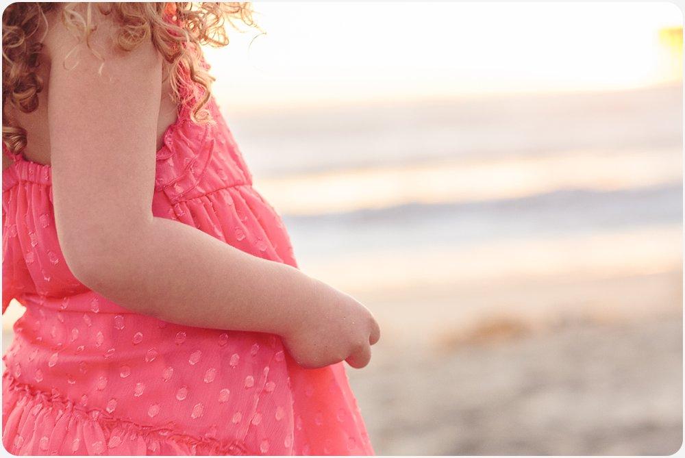 Curly Haired Little Girl   San Diego Beach Photos