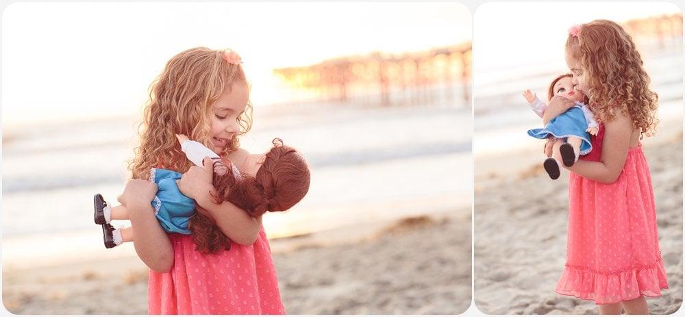 Princess Belle Doll   San Diego Beach Family Photography