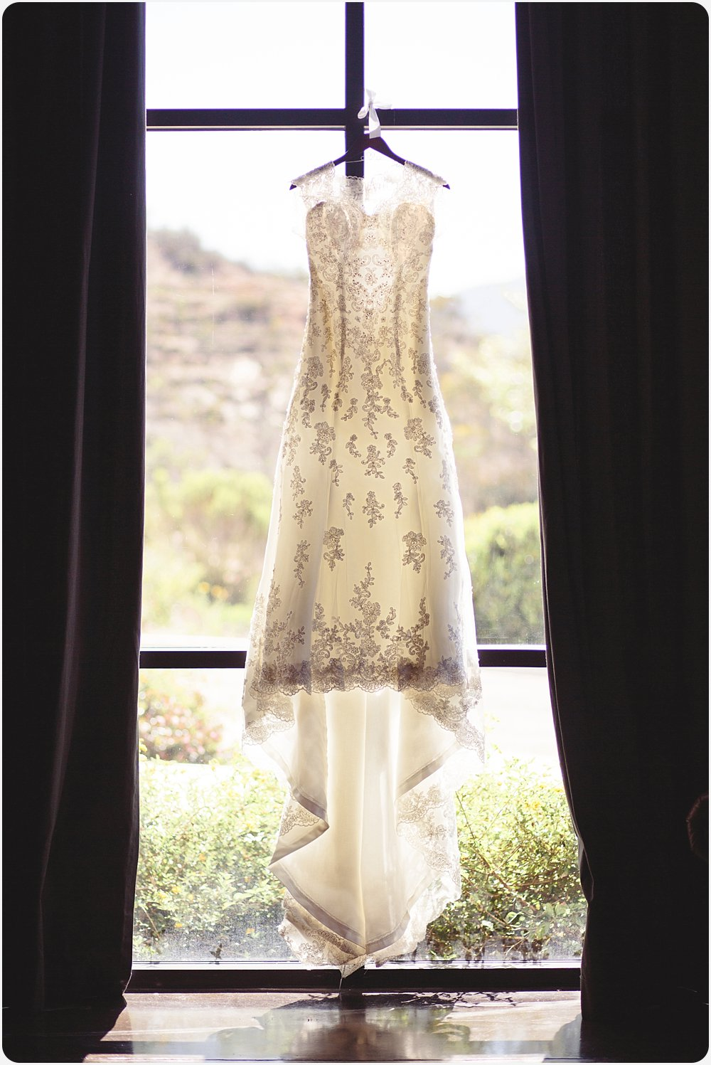 Beautiful backlit wedding gown | San Diego Wedding Photographer