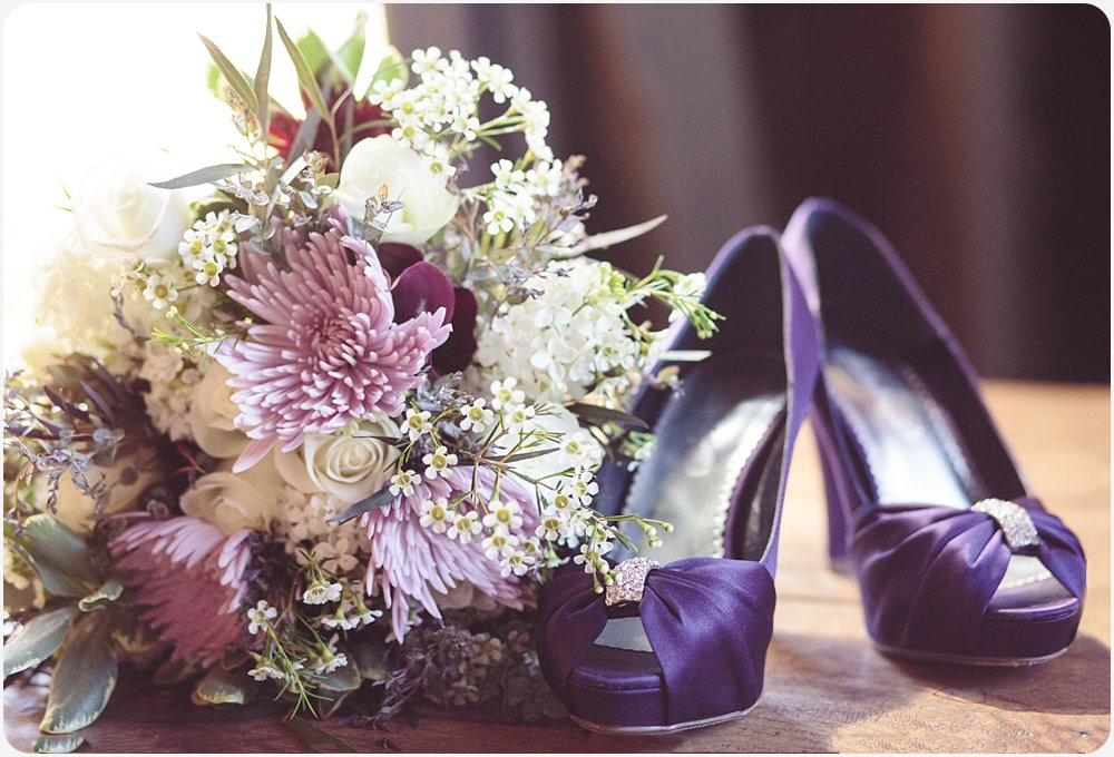 Wedding Shoes and Flowers | San DIego Wedding Photographer