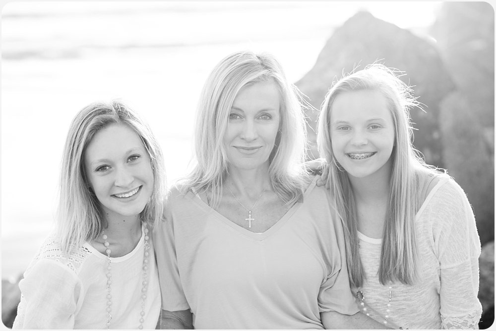 Mother and Daughters | San Diego Beach Photographer