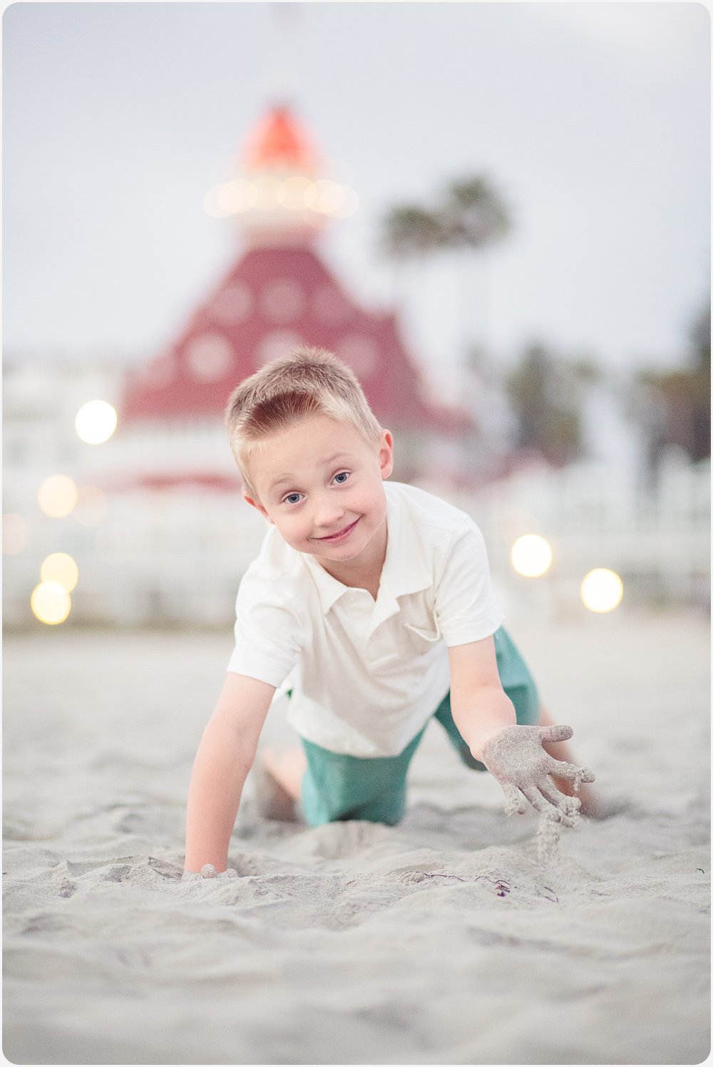 Playing in the Sand | Hotel del Coronado