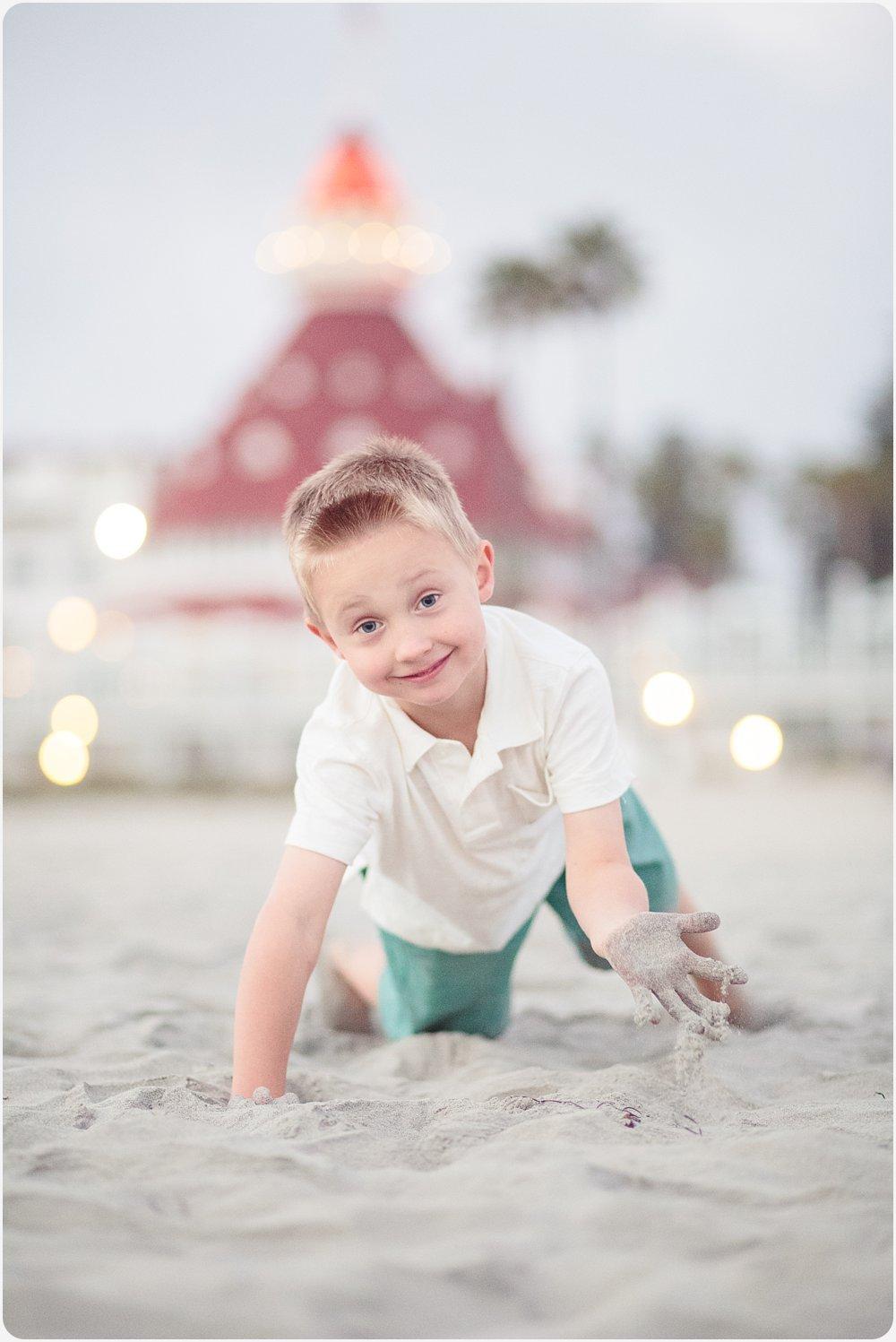 Playing in the Sand | Hotel del Coronado