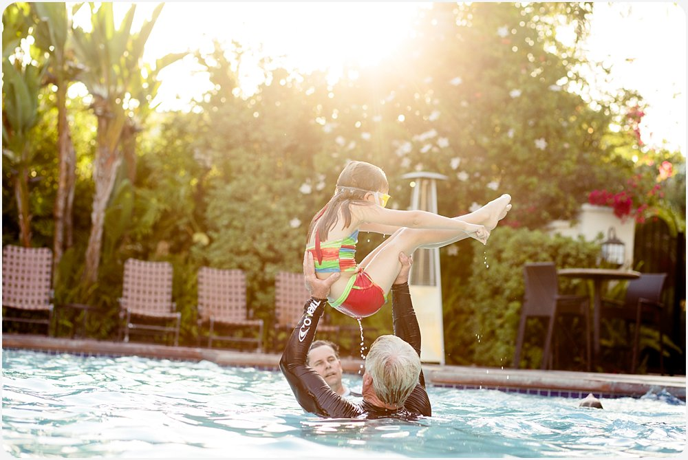 Kids in the Pool | San Diego Family Photography