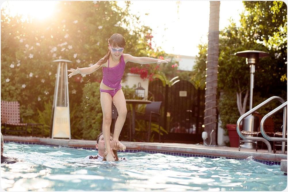 Pool Tricks | San Diego Family Photography