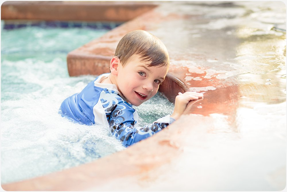 Cousins in the Pool | San Diego Family Photographer