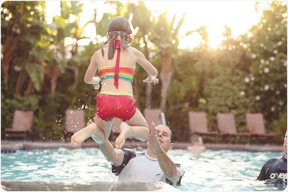 Swimming at the Hotel | San Diego Child Photography