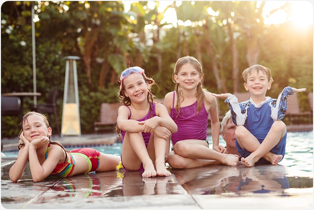 Family Photography at the Pool | San Diego Family Photography