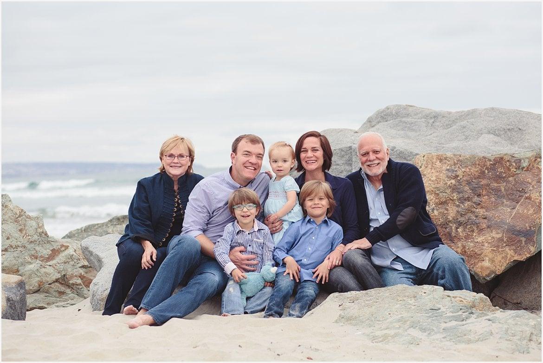 Extended Family Photography | Coronado Beach Photos