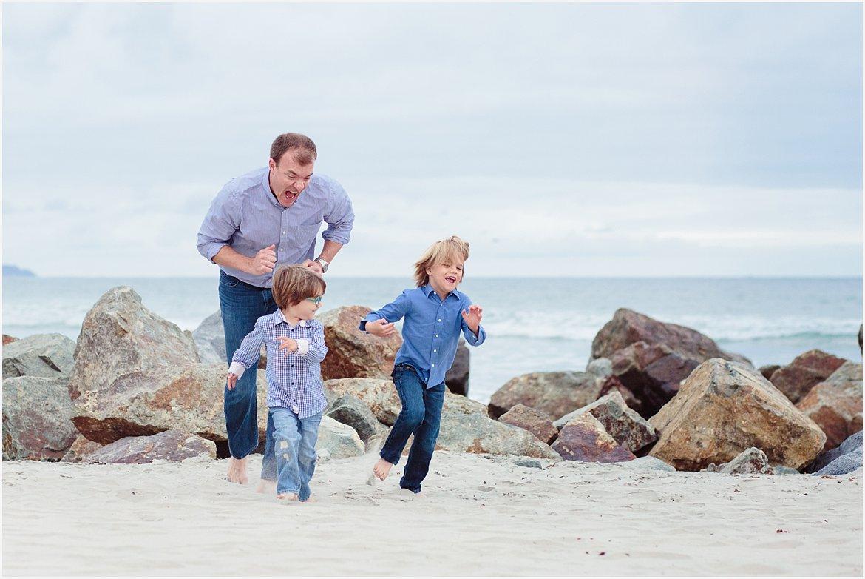 Dad on the Beach | Coronado Beach Photographer