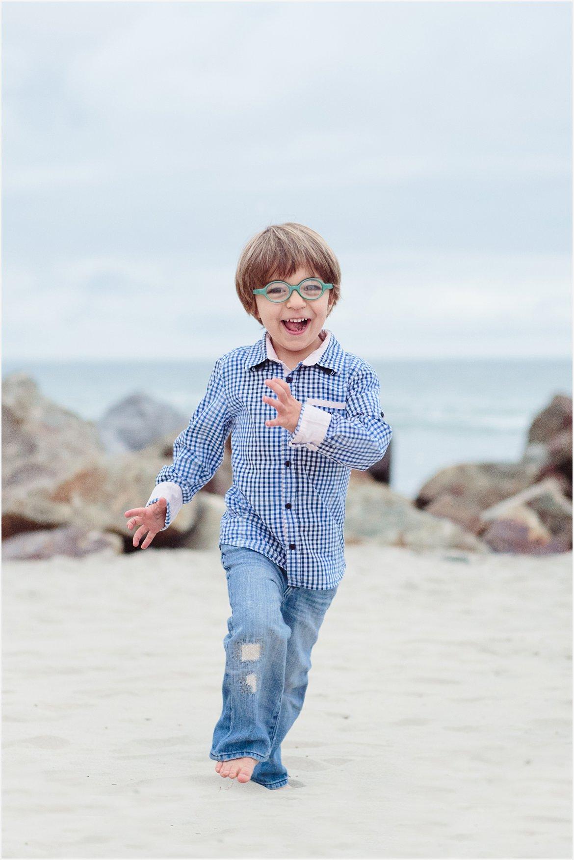 Child Running on Beach | Coronado Beach Photographer