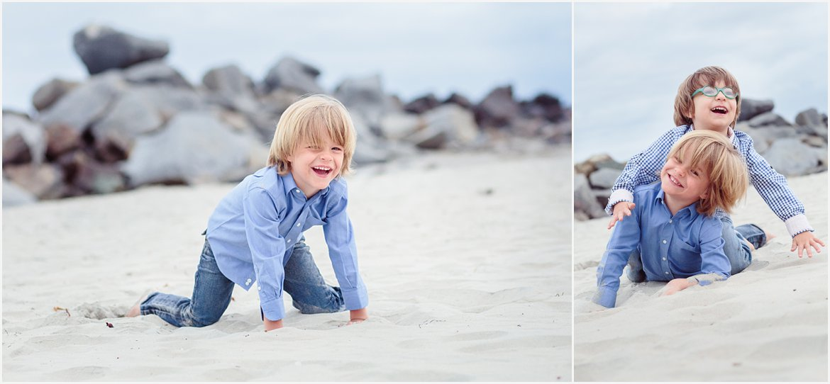 Playing in the Sand | San Diego Beach Photography