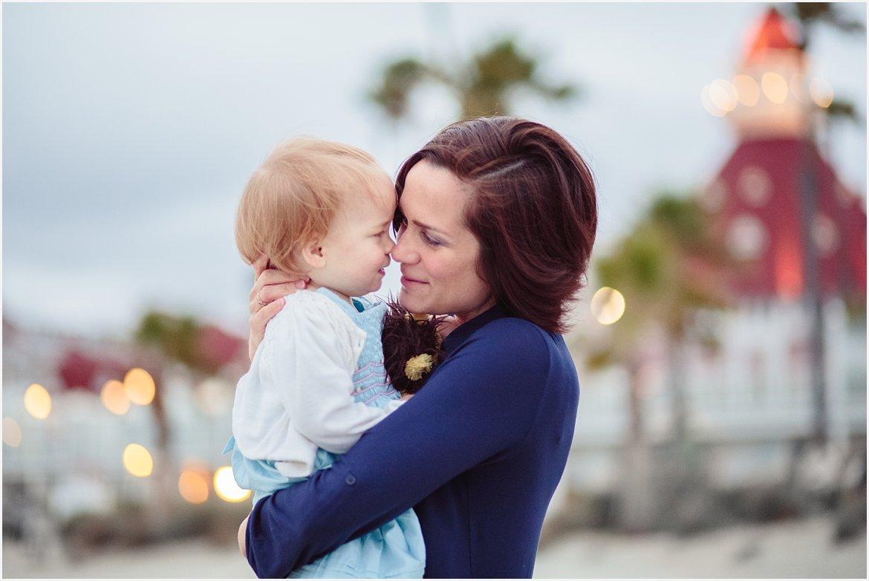 Mama Snuggles | San Diego Beach Photography