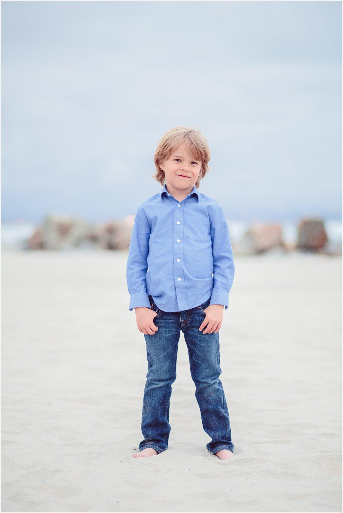 Little Boy on the Beach | San Diego Beach Photography