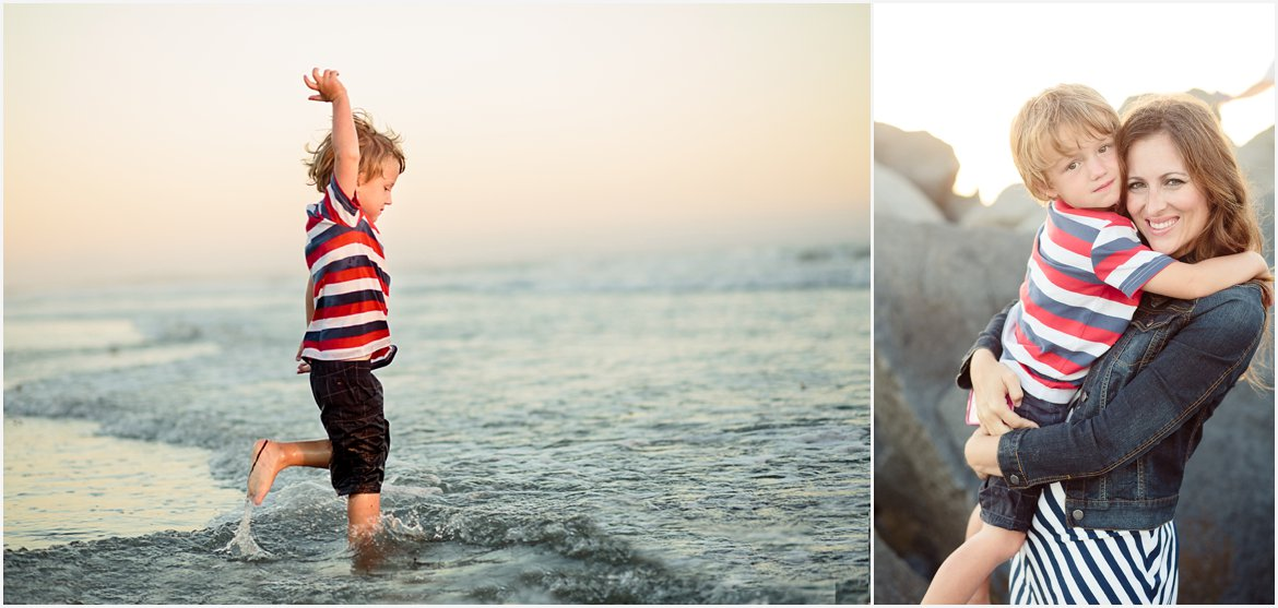 Little boy playing on the beach | Family Photographer San Diego