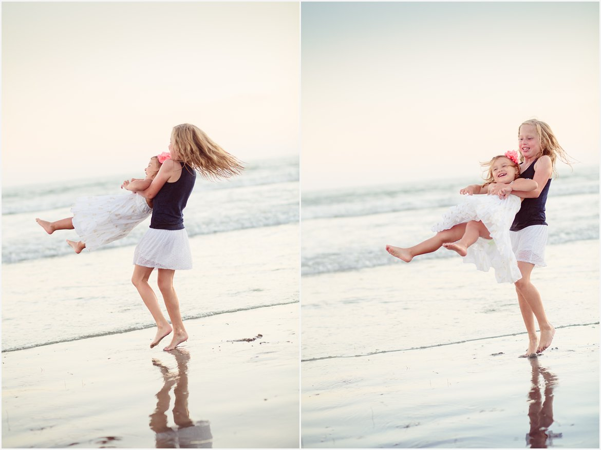Playing on the Beach | Family Photographer San Diego