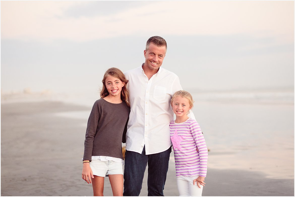 Dad and Daughters | San Diego Beach Photographer
