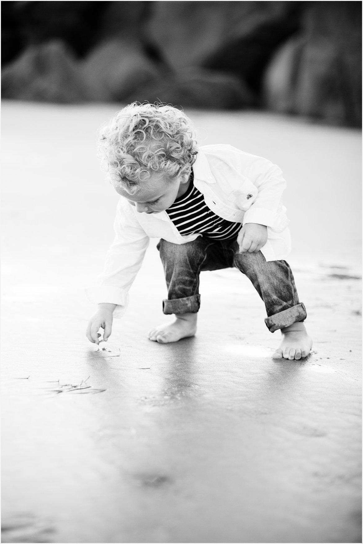 Toddler on Coronado Beach